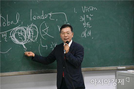 장만채 전남교육감, 연변대학교 방문 특강