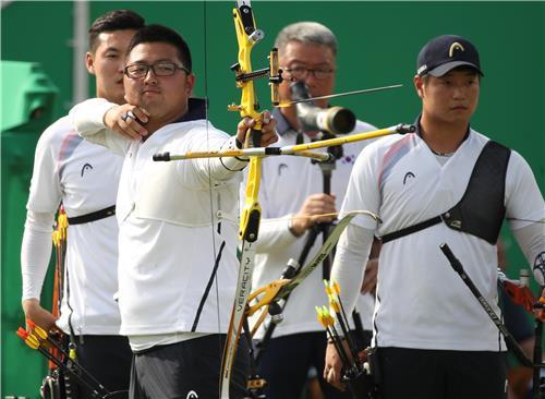 리우의 첫 금맥을 뚫은 영광의 한국 남자양궁 대표팀.