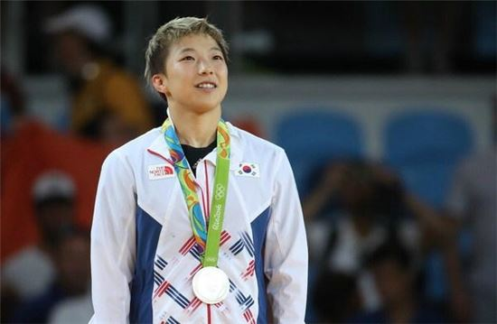 리우올림픽 유도 은메달리스트 정보경. 사진=연합뉴스 제공