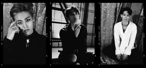엑소 시우민, 백현, 첸. 사진=SM 홈페이지