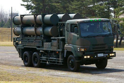 일본 육상자위대 88형 차량탑재형 지대함 미사일