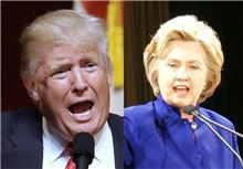 ▲미국 공화당 대선주자인 도널드 트럼프와 민주당 대선주자인 힐러리 클린턴.