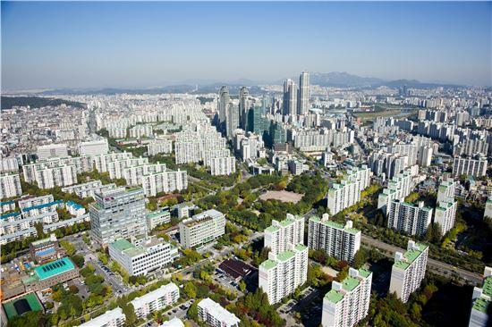 서울 아파트 단지 전경