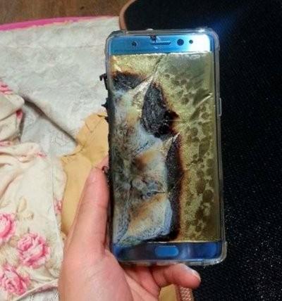 24일 휴대폰 온라인 커뮤니티 '뽐뿌'에 게재된 '갤럭시노트7' 제품 사진 / 사진=뽐뿌