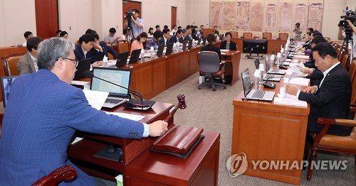 ▲국회 교육문화체육관광위원회. 연합뉴스