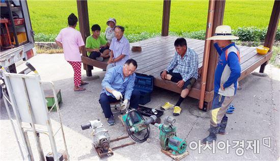 진도군, 가뭄 극복 농기계 기동수리반 운영