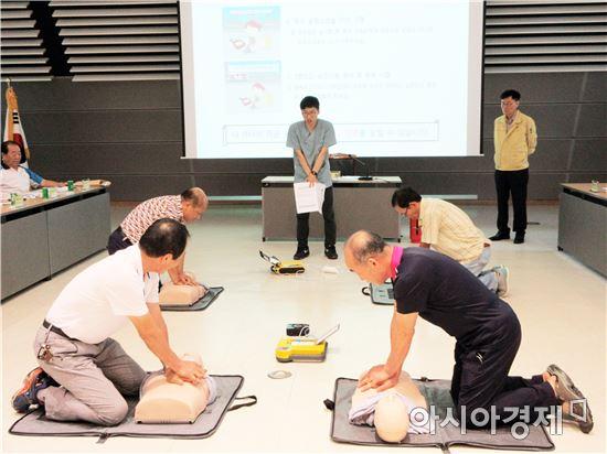 보성군 조성면, 을지연습 연계 주민대피 훈련 실시
