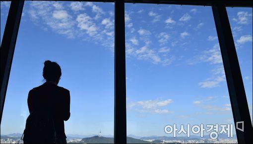 """[포토]""""푸른하늘을 즐겨요"""""""
