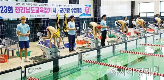 전남도교육청, 제23회 교육감기 시군대항 수영대회 개최