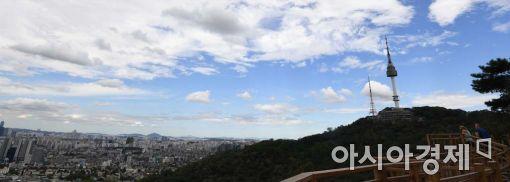 [포토]높고 파란 서울 하늘