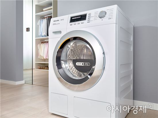 ▲WT1 허니컴 드럼 세탁기.(제공=밀레)