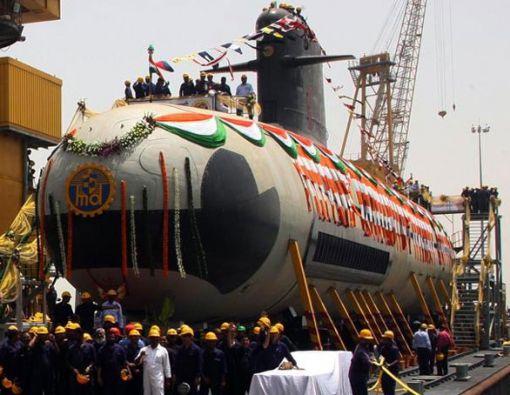인도가 건조 중인 스코르펜급 잠수함