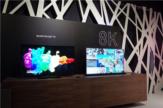 독일 가전업체 그룬디히는 퀀텀닷 TV는 8K 제품에 적합하다고 평가했다.
