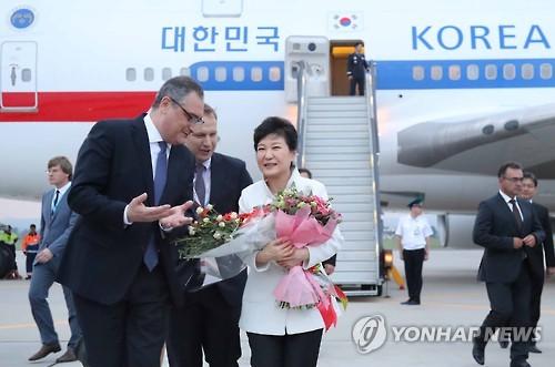 박근혜 대통령 러시아 블라디보스토크 도착/사진=연합뉴스