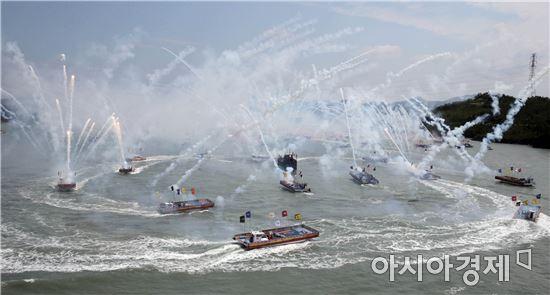 [포토]명량대첩 해상전투