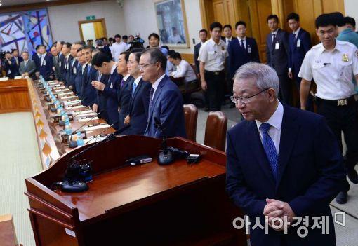 [포토]긴급 법원장회의 참석하는 양승태 대법원장