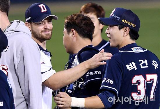 '보우덴 15승' 두산, LG 4-2 제압…SK 5연승
