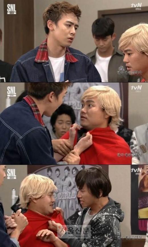닉쿤 김민교. 사진=tvN 'SNL 코리아8' 방송 캡쳐
