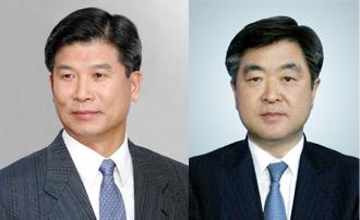 ▲현대중공업 최길선 회장(왼쪽)과 권오갑 사장
