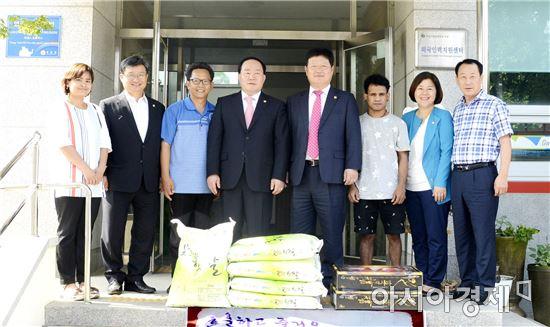 광주광산구의회, 추석명절 맞아 복지시설 위문