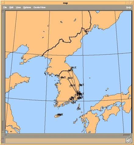 ▲발생위치는 북위 35.7697도, 동경 129.1827도인 것으로 나타났다.