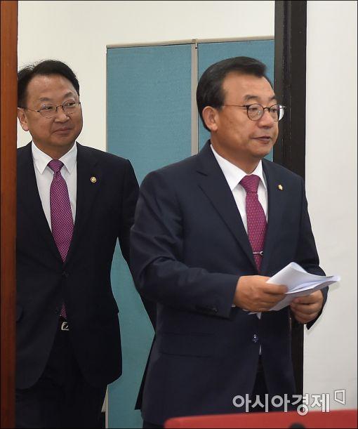 [포토]이정현 대표, 안전관련 당정 참석
