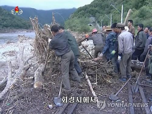 북한 회령시 홍수. 사진=연합뉴스 제공