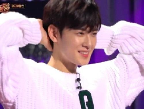 아스트로 차은우. 사진=KBS2 '붐샤카라카' 방송 캡쳐