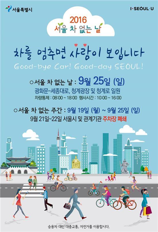 차 없는 날 포스터(제공=서울시)