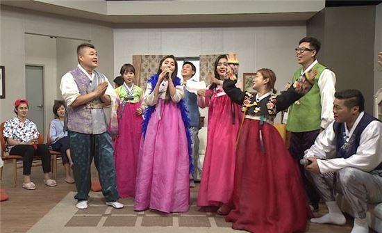 홍진영 솔비. 사진=JTBC '아는형님' 방송 캡쳐