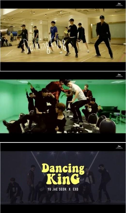 유재석 엑소 댄싱킹 뮤직비디오. 사진=MBC '무한도전' 공식 SNS 캡쳐