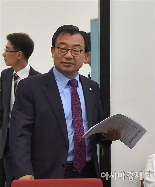 [포토]이정현 대표, 지진피행 당정 참석