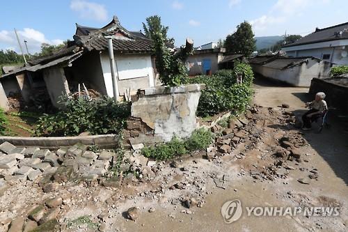 경주 지진 피해 현장