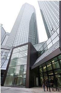 ▲프랑크푸르트 도이체방그 본사 건물(사진=은행 홈페이지)