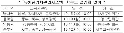 서울 '유치원 입학관리 시스템' 학부모 설명회
