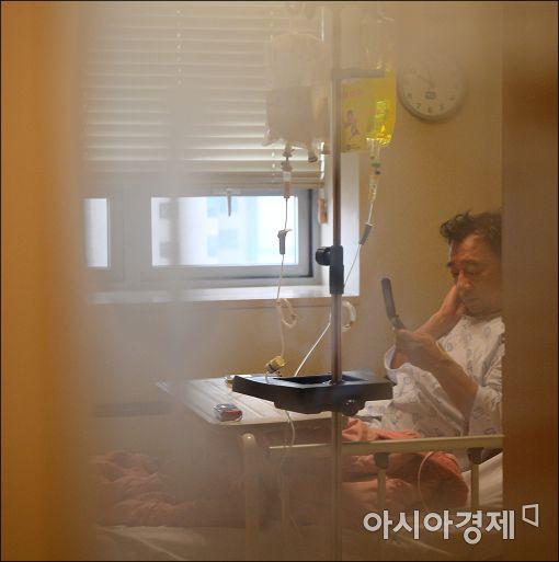 [포토]병원 입원한 이정현 대표