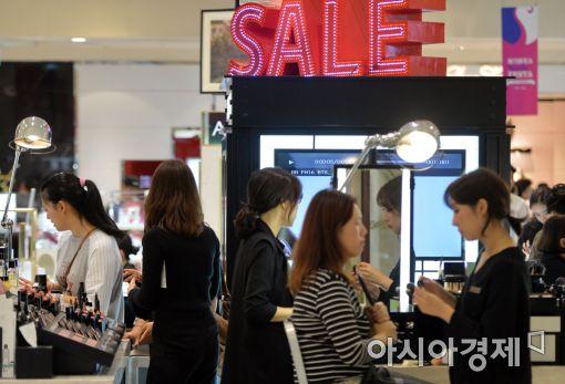 [포토]인기 좋은 한국 화장품