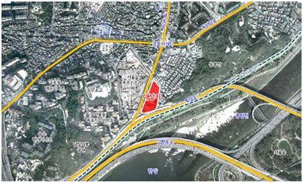금호유수지 위치도(자료:서울시)