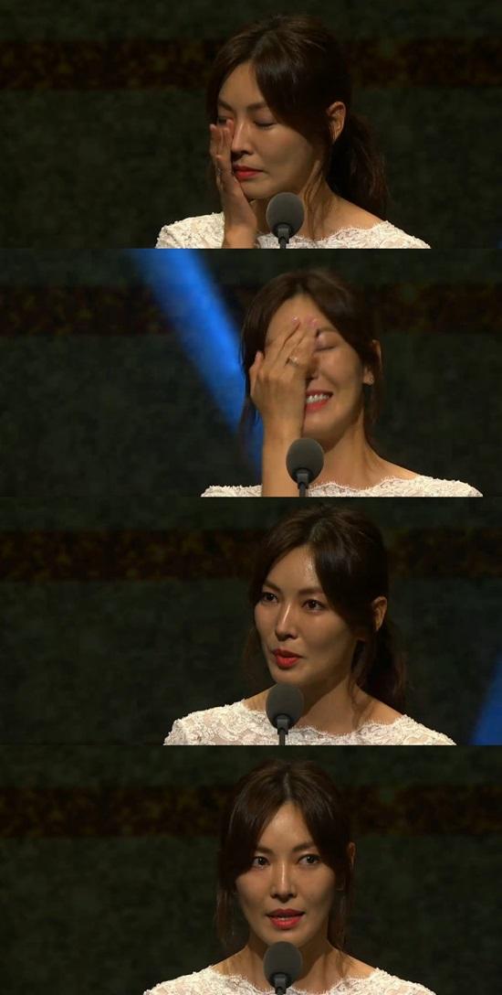 '코리아드라마어워즈' 김소연. 사진=네이버브이앱 캡처