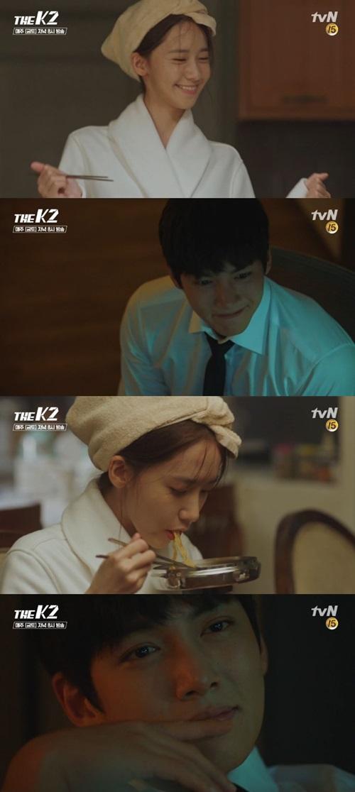 윤아 지창욱. 사진=tvN '더 케이투' 방송 캡쳐