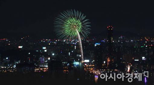 [포토]서울 하늘에 핀 불꽃 한 송이