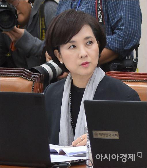 [포토]결의에 찬 표정의 유은혜 의원