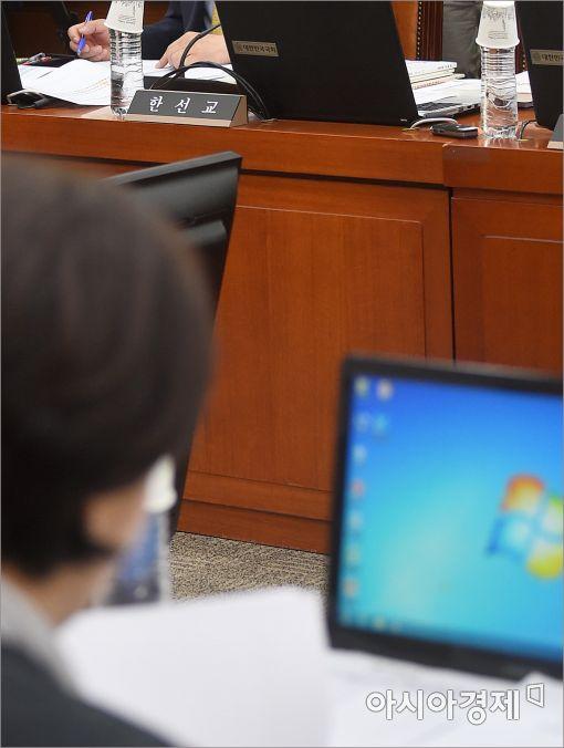 [포토]성희롱 논란 한선교 의원, 국감 불참