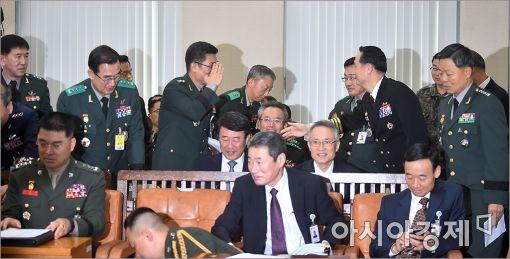 [포토]국정감사 출석한 3군 참모총장