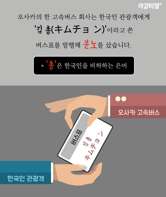 """[카드뉴스]""""외국인 걸리적거린다"""" 혐한으로 얼룩진 일본"""