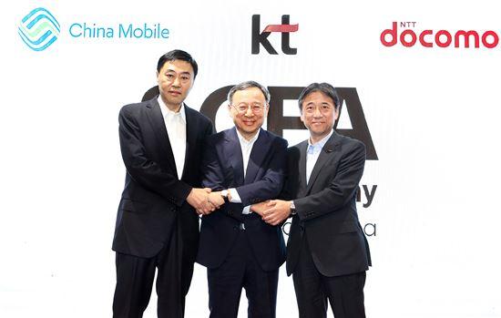 [포토]KT-차이나모바일-NTT도코모, 한·중·일 통신 '도원결의' 강화