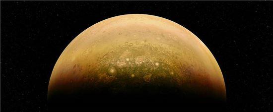 ▲목성이 태양빛을 받아 떠오르고 있다.[사진제공= NASA/JPL-Caltech/SwRI/MSSS/Mai]