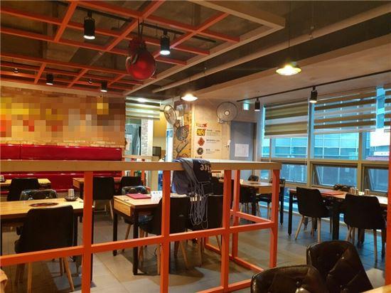 23일 종로구에 위치한 한 1만원대 식당의 모습.
