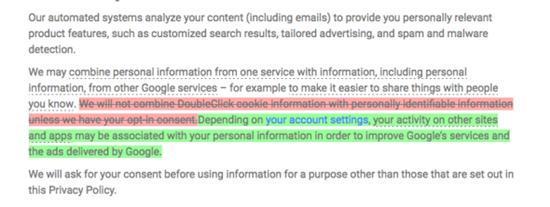 구글 개인정보보호 정책 변경 내용(출처:프로폴리티카)