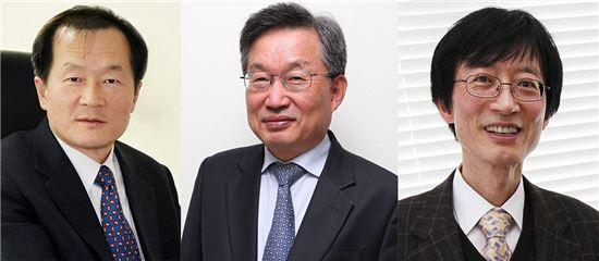 ▲경종민, 박오옥, 이용훈 교수(왼쪽부터).[사진제공=카이스트]